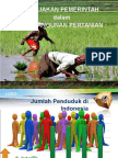kebijakan pembangunan pertanian