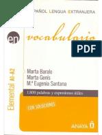 Marta Baralo Marta Geniss m Eugenia Santana Vocabulario Elem