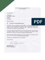 PSNI Letter to Ed Moloney