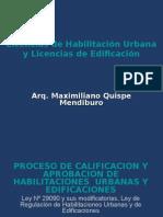 Licencias de Habilitacion Urbana y Licencias de Edificacion