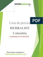 Lista de Precios Herbalife Colombia
