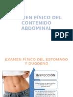 Examen Físico Del Contenido Abdominal