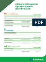 Cartilla de Cambios Cuentas de Ahorro Interbank