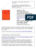 Getting Heidegger Off the West Coast - Carleton B. Christensen