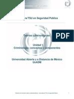 Unidad 1. Criminologia Conceptos y Componentes
