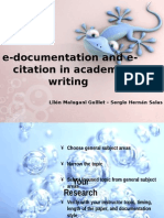 e-documentation and e-citation in academic writing