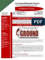 Newsletter for September 2015