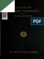 LENORMAND, René (1962). a Study of Modern Harmony