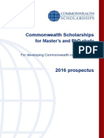 Commonwealth Scholarships 2016