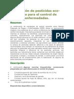 Elaboración de Pesticidas Eco