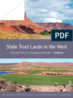 State Trust Lands in the West, Updated