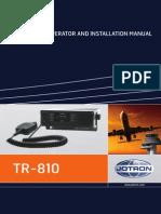 Operator & Installation Manual Tr-810 857645[1]