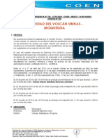 Actividad Del Volcán Ubinas - Moquegua