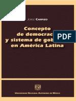Concepto de Democracia y Sistema de Gobierno en America Latina