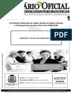 Prefeitura municipal de Itiúba Estado Da Bahia Ano 2015 Diario Oficial Do Município Decreto Nº138 de 20 de Agosto de 2015