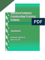 ECP ResidentialTrainingCriteria