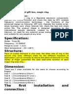Smart Ring Operating Instruction