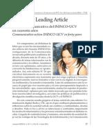 Johanna Pérez Daza Editorial Anuario ININCO Vol26 N°1 2014