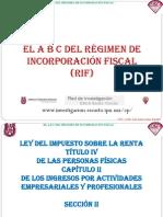 17. El a b c Del Régimen de Incorporación Fiscal