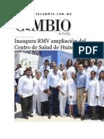 20-08-2015 Diario Matutitno Cambio de Puebla - Inaugura RMV Ampliación Del Centro de Salud de Huixcolotla