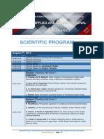 ACM2015 Scientific Program