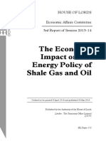 The Economic Impact on UK Energy Policy of Shale Gas and Oil