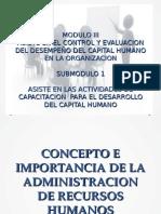 Administacion Concepto e Importancia Capacitacion y Desarrollo Del Personal