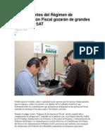 22.- Contribuyentes Del Régimen de Incorporación Fiscal Gozarán de Grandes Beneficios