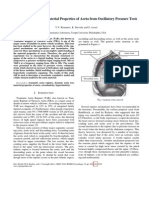 Characterization of Material Properties of Aorta From Oscillatory Pressure Tests
