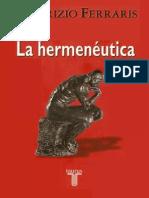 La Hermeneutica - Maurizio Ferraris
