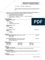 Sample Chronological Resume - Outline Format