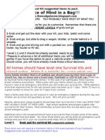 Survival Kit Suggested Items to Pack