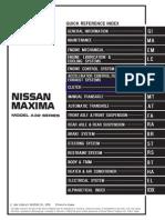 23810450 NISSAN Maxima a32 Workshop Manual