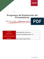 Auditoría Homologación Proveedores II