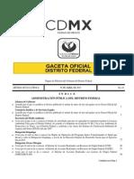 Gaceta 30 de Abril 2015 gobierno del distrito federal