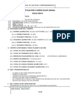 Planificacion 2012 2013 Gestion y Emprendimiento