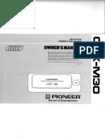 Cdxm30 User ManualmANUAL