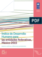 Indice de Desarrollo Humano Por Entidades Mexico 2015