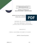 Importancia Del Desarrollo de La Colección Lúdica de La Ludoteca Uamóvil