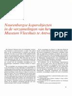 Baumgaertel Neurenbergse Koerobjecten in de Verzamelingen Van Het Museum Vleeshuis Te Antwerpen