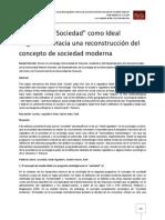 Daniel Chernilo El Rol de La Sociedad Como Ideal Regulativo, Hacia Una Reconstrucción Del Concepto de Sociedad Moderna
