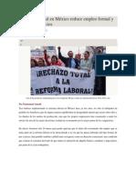 Reforma Laboral en México Reduce Empleo Formal y Elimina Beneficios