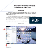 COMO HACER UN CUADERNO INTERACTIVO DE TRES COLUMNAS EN POWER POINT.pdf