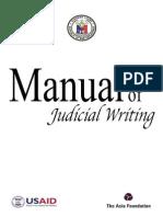 Manual of Judicial Writing
