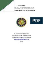 program pemeliharaan alat medis dan kalibrasi 2013.doc