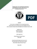 Evaluasi Atas Perencanaan Strategis Pada Badan Pengawasan Keuangan dan Pembangunan Sesuai Mandat Peraturan Pemerintah Nomor 60 Tahun 2008