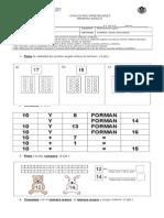 Prueba de Matemática Numeración 20