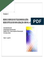 Unidade 1 - Redes e Serviços de Telecomunicações Ago_2014