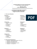 Jadwal LK Tingkat I Semester II
