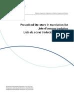 prescribed list in translation